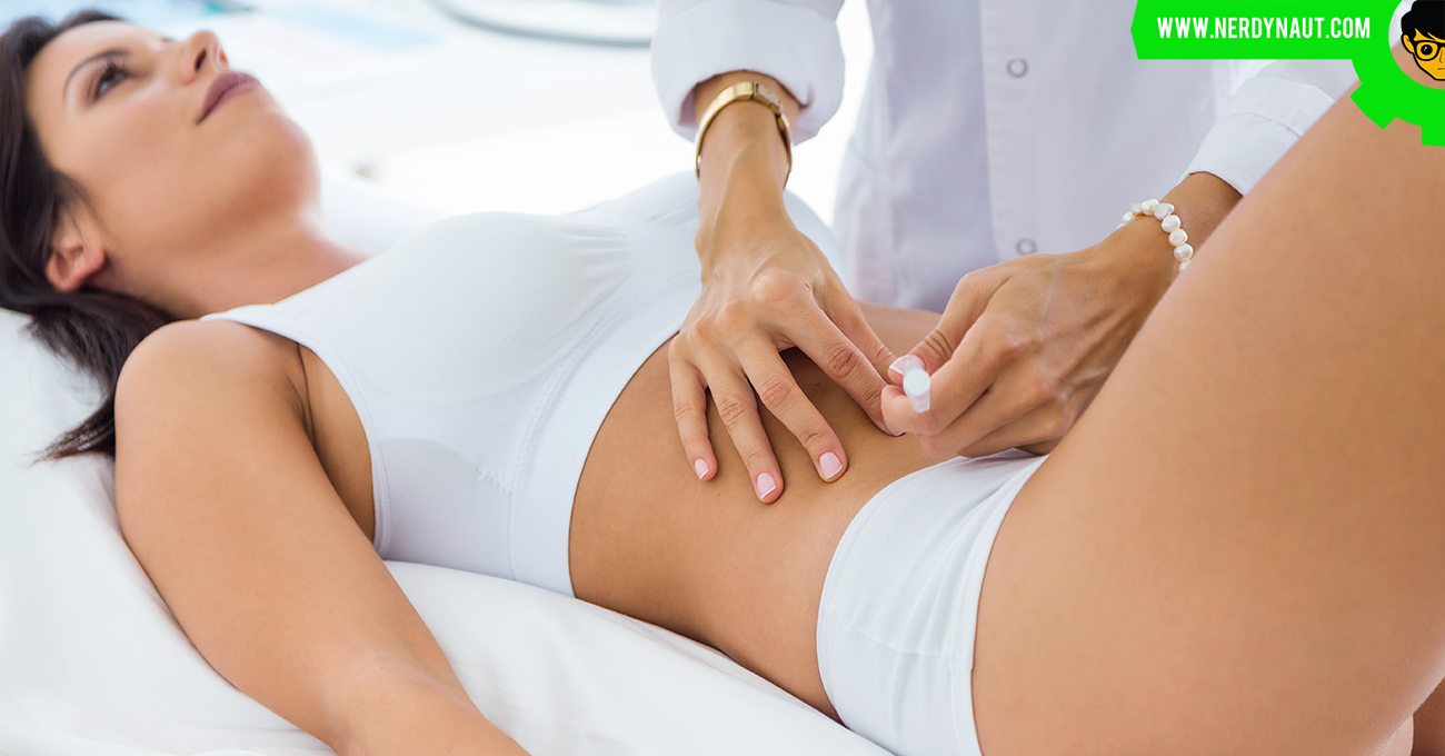 Cosmetic surgery for a woman by a doctor