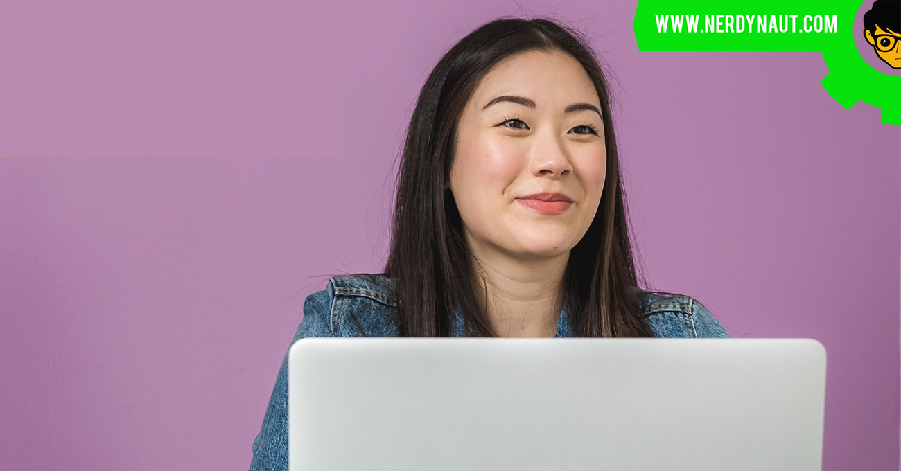Asian woman taking Business To The Next