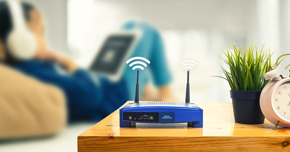Wifi singal of an all in one access point at home