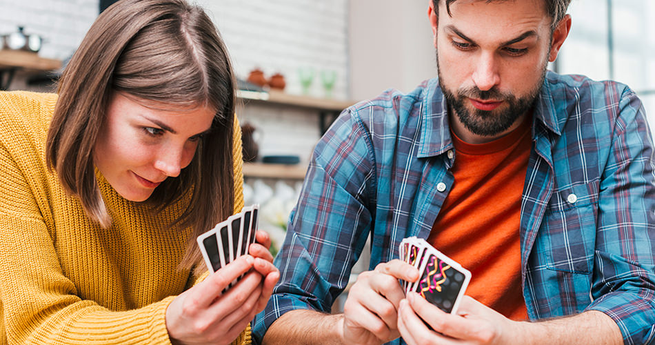 a couple playing card games