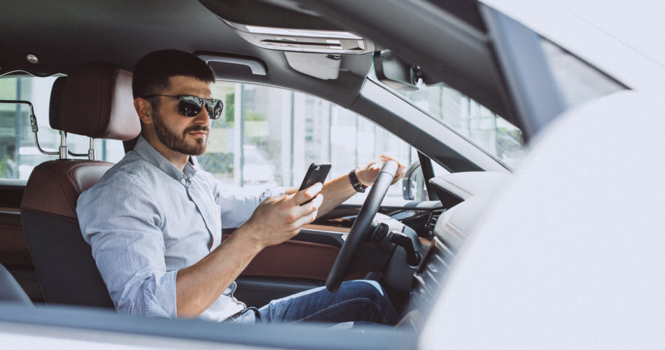 Driving with a mobile in your hand