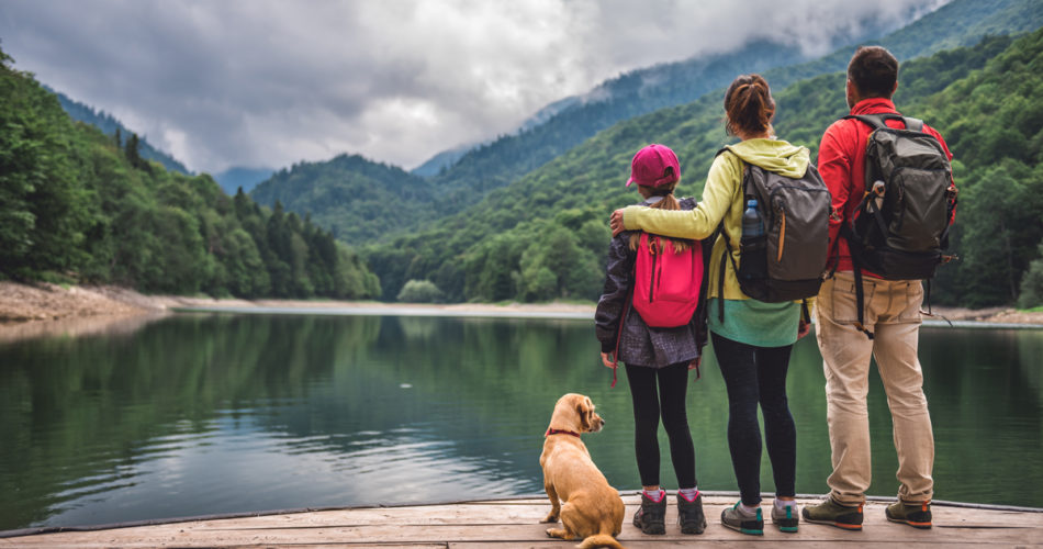 Backpacking Trip Family