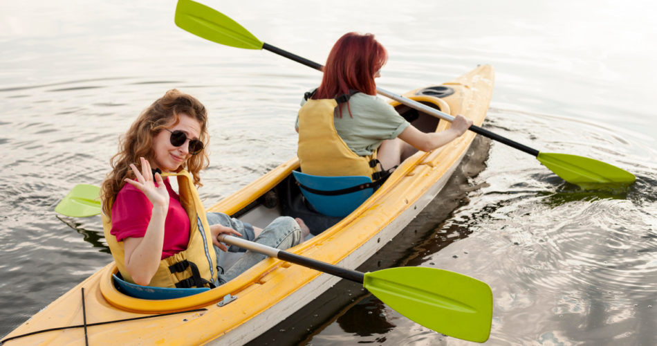 Two Girls on a Kayaking Trip