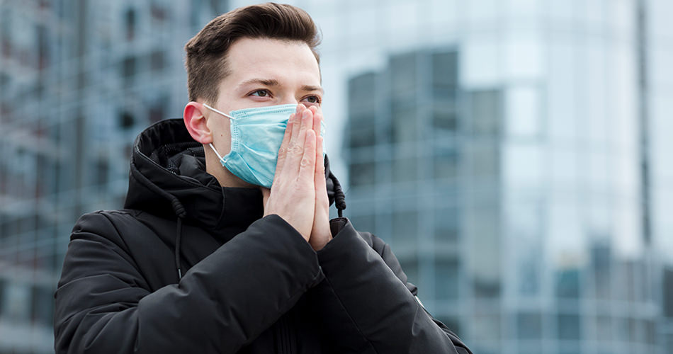 Praying with a mask