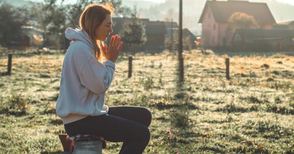Season of Lent Is a Season of Repentance - Girl on Bench in a village